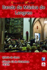 Concierto de Navidad: Banda de Música de Langreo @ Iglesia Parroquial de Santiago de Sama