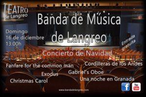 Concierto de Navidad: Banda de Música de Langreo @ Nuevo Teatro de La Felguerra