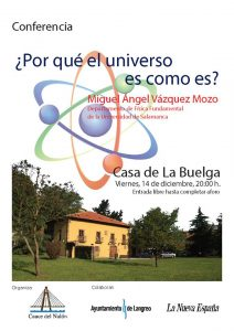 Conferencia: ¿Por qué el universo es como es? @ Casa de la Buelga