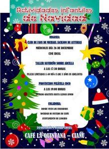 Actividades infantiles de Navidad 2018 en Ciaño @ Cine Ideal