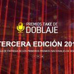 3ª Gala de entrega de los premios Take de doblaje 2019