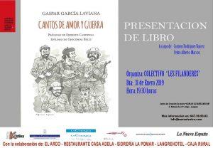 """Presentación de libro: Cantos de amor y guerra @ Centro de Creación Escénica """"Carlos Álvarez-Nòvoa"""""""