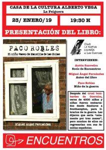 Presentación de libro: Paco Robles. El niño vasco de Mansilla de las Mulas @ Casa de cultura de La Felguera