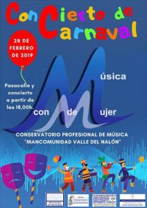 Pasacalle y concierto de carnaval del Conservatorio del Valle del Nalón @ Conservatorio del Nalón