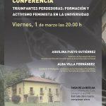 Conferencia: Triunfantes perdedoras - Formación y activismo feminista en la Universidad