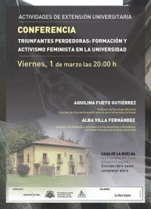Conferencia: Triunfantes perdedoras - Formación y activismo feminista en la Universidad @ Casa de la Buelga