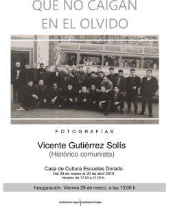 Exposición fotográfica: Que no caigan en el olvido @ Escuelas Dorado