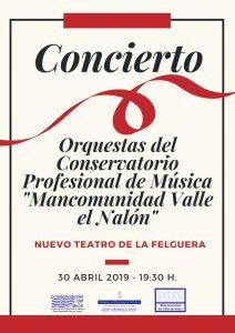 Concierto de primavera del Conservatorio del Nalón @ Nuevo Teatro de La Felguera