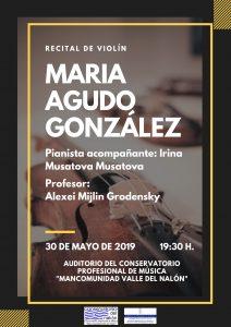 Recital de violín: María Agudo González @ Conservatorio del Nalón