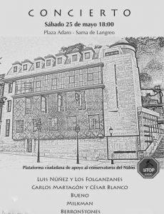 Concierto en apoyo del Conservatorio del Nalón @ Plaza Adaro