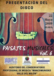 Presentación de disco Paisajes Musicales vol. 6 @ Conservatorio del Nalón