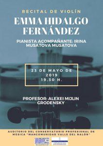 Recital de violín: Emma Hidalgo Fernández @ Conservatorio del Nalón