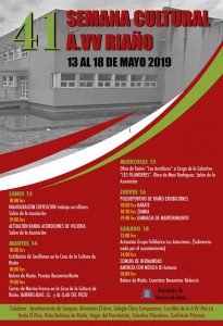 41ª Semana Cultural A.VV. de Riaño @ Riaño