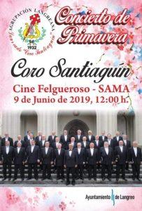 Concierto de primavera del Coro Santiaguín @ Cine Felgueroso
