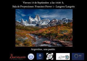 Proyección fotográfica: Argentina, una pasión @ Sala de proyecciones Asociación La Salle