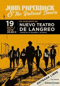 Concierto: John Paperback & The Railroad Sinners @ Nuevo Teatro de La Felguera