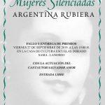 """Entrega de premios XII Certamen de poesía """"mujeres silenciadas"""" - Argentina Rubiera"""