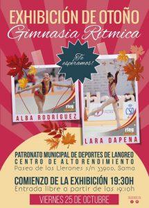 Gimnasia Rítmica: Exhibición de otoño @ Polideportivo de Sama