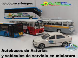 Exposición: Autobuses de Asturias en minuatura @ Escuelas Dorado