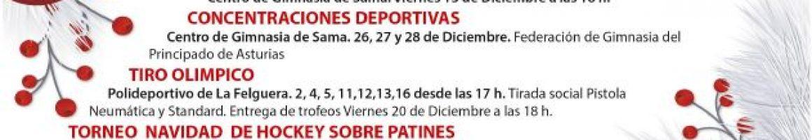 Actividades deportivas Langreo Navidad 2019