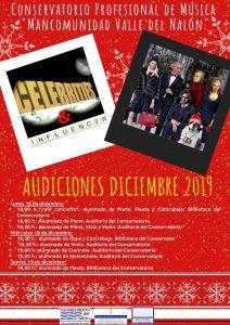 Audiciones en Diciembre 2019. Conservatorio del Nalón. @ Conservatorio del Nalón