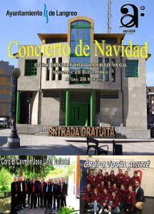 """Concierto de Navidad: Coro El Carmen """"José León Delestal"""" y grupo vocal """"Amitié"""" @ Casa de Cultura de La Felguera"""