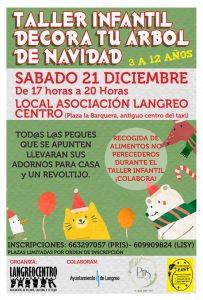 Taller navideño: Decora tu árbol de Navidad @ Local Asociación de Vecinos Langreo Centro