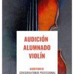 Audición alumnado de violín