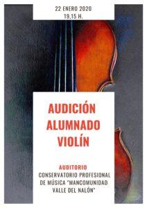 Audición alumnado de violín @ Conservatorio del Nalón