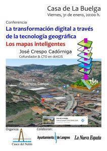 Conferencia: La transformación digital a través de la tecnología geográfica: Los mapas inteligentes @ Casa de La Buelga