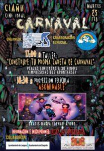 Taller de carnaval y cine en Ciaño