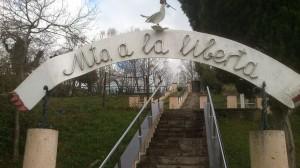 Monumento a la Libertad en La Teyera El Cau Cabo Langreo Mieres